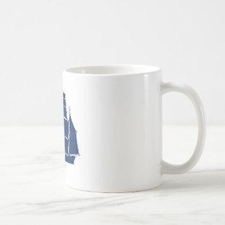pequodの船の青いデザイン コーヒーマグカップ