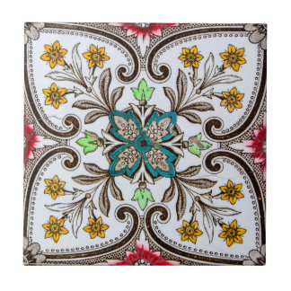 Peranakanの花柄のタイル タイル