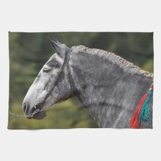 Percheronのばん馬のロバ キッチンタオル
