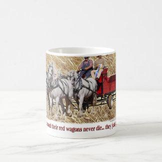 Percheronのばん馬の農場ワゴンBuckboard コーヒーマグカップ