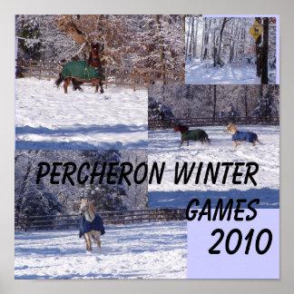 PERCHERONの冬のゲーム2013年 ポスター