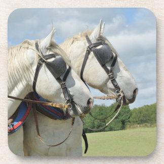 Percheronの灰色の馬 コースター