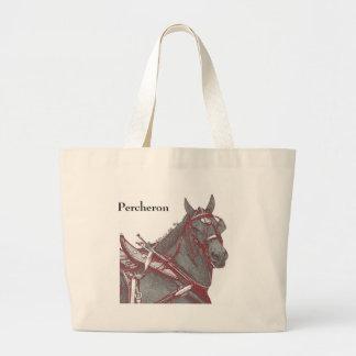 Percheronの馬のトート ラージトートバッグ
