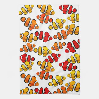 PerculaのピエロのAnenomeの魚の台所タオル キッチンタオル