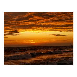 Pere Marquetteのビーチ、Muskegon、MI ポストカード