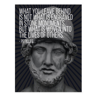 Pericles quote on life, death and legacy ポストカード