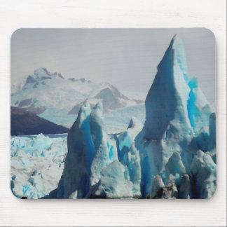 Peritoモレノのアンデス山脈の氷河の氷のスパイク マウスパッド
