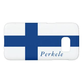 Perkeleのフィンランドの旗、銀河系S7の電話カバー Samsung Galaxy S7 ケース