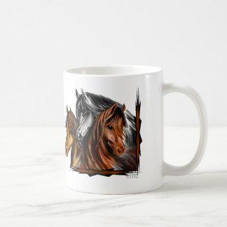 PerliPrints3Horsesz コーヒーマグカップ