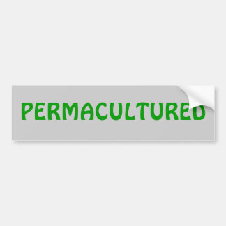 PERMACULTURED バンパーステッカー
