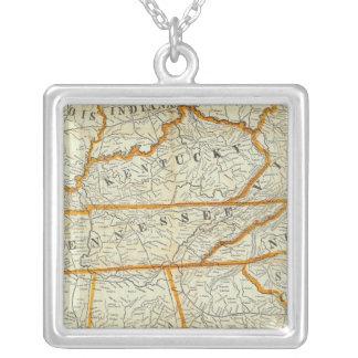 Perrineの新しい地勢戦争の地図 シルバープレートネックレス