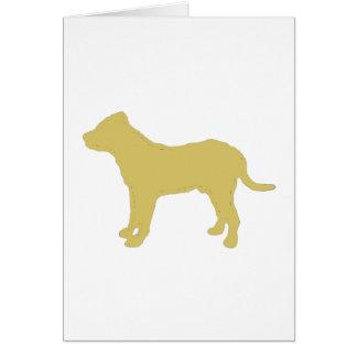 perro de presaのcanario色のシルエット グリーティングカード