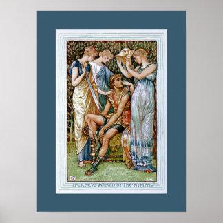 Perseusはニンフによって武装しました ポスター