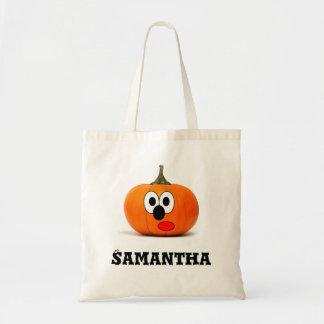Personalised pumpking trick treat custom tote bag トートバッグ