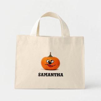 Personalised trick or treat bag pumpkin tote ミニトートバッグ