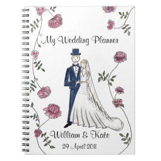 Personalised Wedding Planner Notebook ノートブック