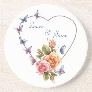 personalistedコースター愛ロマンスか結婚式、gif ドリンク用コースター