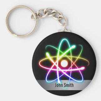 Personalizableのカラフルで白熱[赤熱]光を放つな原子 キーホルダー