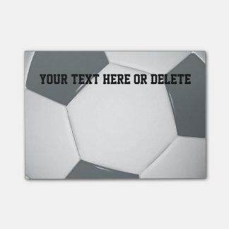 Personalizableのサッカー|のフットボールのノート ポストイット