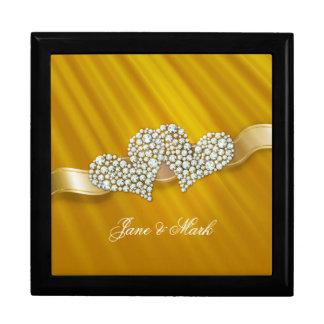 Personalizableのロマンチックなダイヤモンドのハート|のギフト用の箱 ギフトボックス