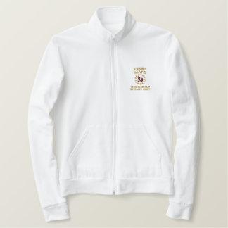 Personalizableの一等航海士のヨットの旗の刺繍 刺繍入りジャケット