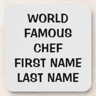 Personalizableの世界的に有名なシェフ(あなたの名前) コースター