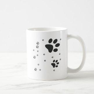 Personalizados com patinhas escuras コーヒーマグカップ