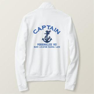 Personalize大きい大尉それいかりEmboidered 刺繍入りジャケット