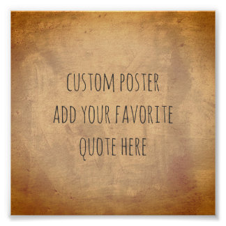 personalize a custom poster add your own quote ポスター