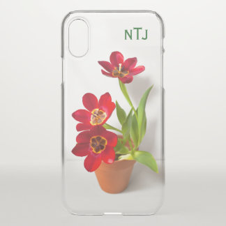 Personalize:  Red Tulips Floral Photography iPhone X ケース