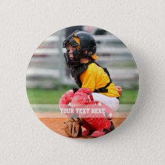 Personalize Sports Photo 5.7cm 丸型バッジ