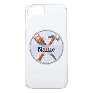 personalized挙げられた男の子のためのToolsデザイン iPhone 8/7ケース