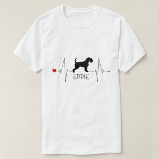 Personalized Airedale Love My Dog Heart Beat Tシャツ