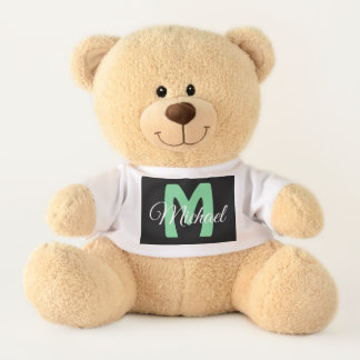 Personalized Baby Boy's name Teddy Bear テディベア