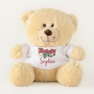 Personalized Birthday Girl Teddy Bear テディベア