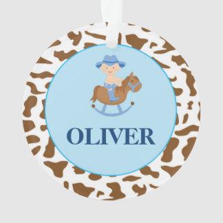 Personalized Boy Christmas Ornament Cowboy オーナメント
