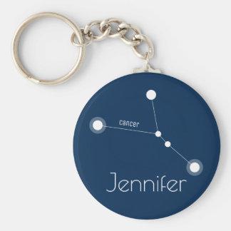 Personalized Cancer Zodiac Constellation キーホルダー