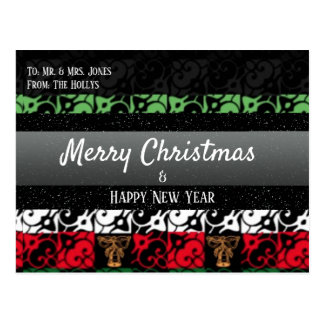 Personalized Chic Ugly Holiday Greeting Postcard ポストカード