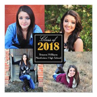 Personalized Class of 2018 Senior Graduation Photo カード