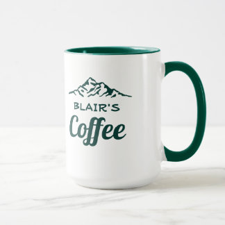 Personalized Coffee Mug with Mountains マグカップ