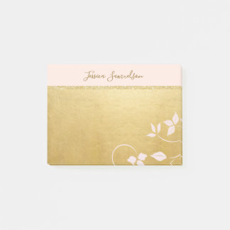 Personalized Faux Gold Foil & Pink | Add NAME ポストイット