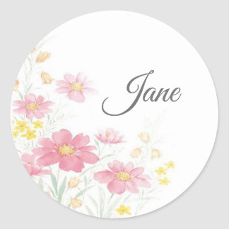 Personalized flower stickers ラウンドシール