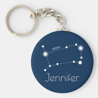 Personalized Gemini Zodiac Constellation キーホルダー