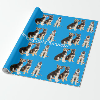 Personalized German Shepherd Puppies ラッピングペーパー