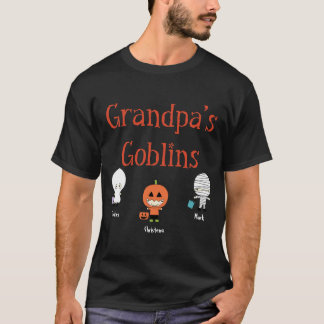 Personalized Grandpa's Goblins T-Shirt Tシャツ