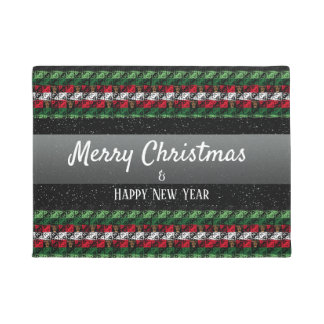 Personalized Greeting Holiday Season Welcome Mat ドアマット