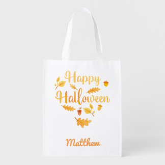 Personalized Halloween Acorns Trick or Treat Sack エコバッグ