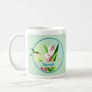 Personalized Hummingbird Mug コーヒーマグカップ