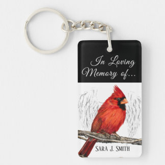 Personalized In Loving Memory Cardinal Keychain キーホルダー