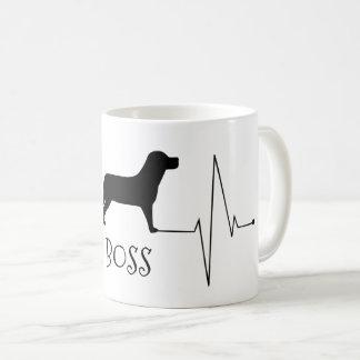 Personalized Labrador Love My Dog Heart Beat コーヒーマグカップ